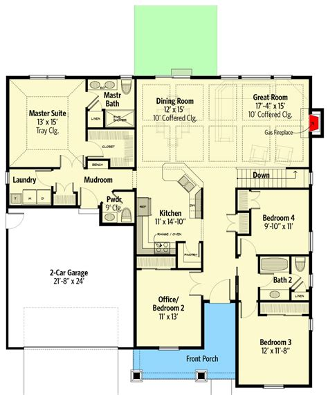 Plan 770016CED: 3 Bedroom Traditional Craftsman Home Plan
