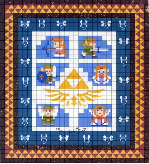 Zelda Quilt Crafts Jewelry Diy Quilts Video Game