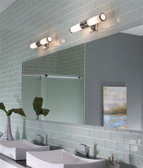 wide chrome ip44 bathroom light
