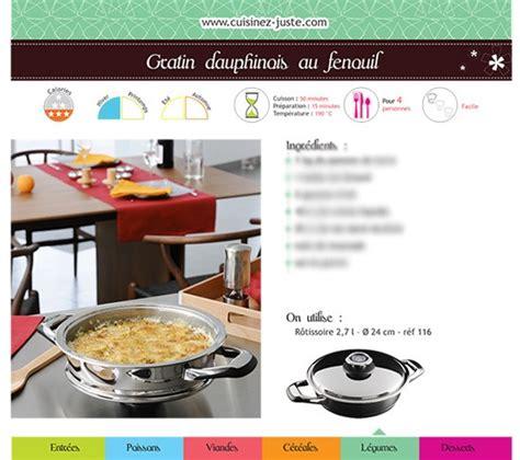 fiche recette de cuisine fiche recette plat chaud gratin dauphinois au fenouil