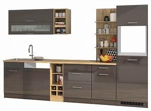 Küchenzeile 310 Cm : k chenzeile m nchen vario 3 k chen leerblock breite 310 cm hochglanz grau graphit ~ Indierocktalk.com Haus und Dekorationen