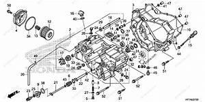 Honda Atv 2012 Oem Parts Diagram For Front Crankcase Cover