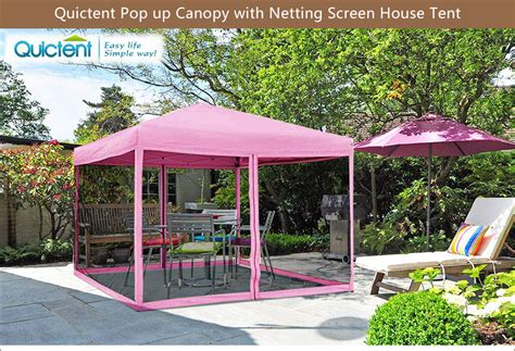 quictent  pink ez pop  canopy  netting screen house tent mesh sides  ebay