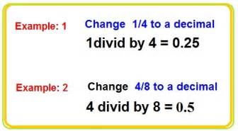 how do you turn decimals into fractions changing fractions to decimals