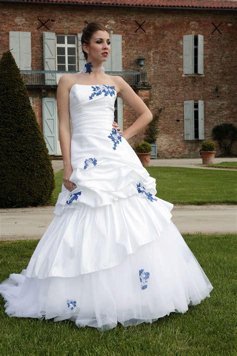 robe mariee bleu et blanche mariage toulouse
