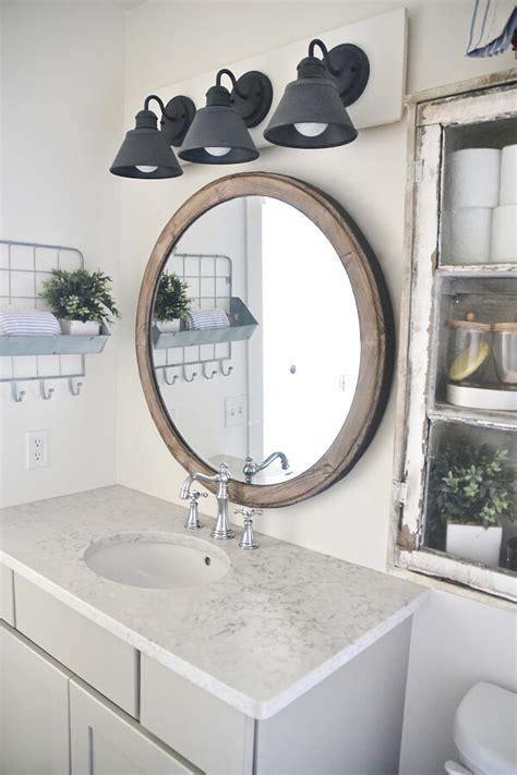 farmhouse bathroom lighting 36 best farmhouse bathroom design and decor ideas for 2017 Farmhouse Bathroom Lighting