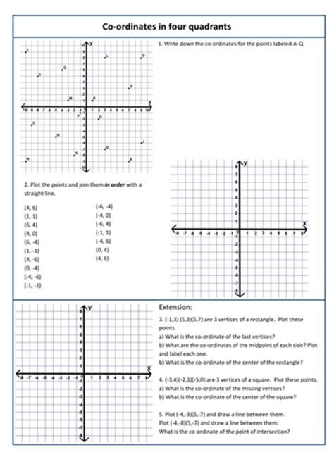 coordinates in 4 quadrants by kittykat 102 teaching