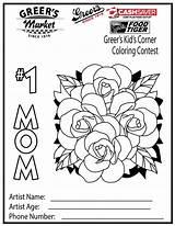 Corner Coloring Kid Borders Contest Greer Template sketch template