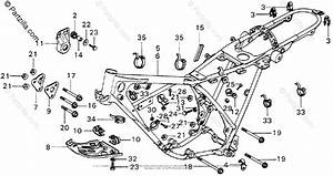 Honda Motorcycle Models With No Year Oem Parts Diagram For Frame