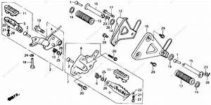 Honda Motorcycle 1989 Oem Parts Diagram For Step