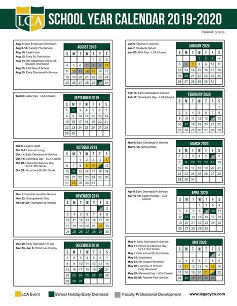 page calendar legacy christian academy