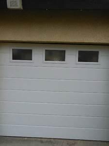 porte d39entree pvc et porte de garage allo fermeture With porte de garage sectionnelle avec porte d entrée en pvc blanc