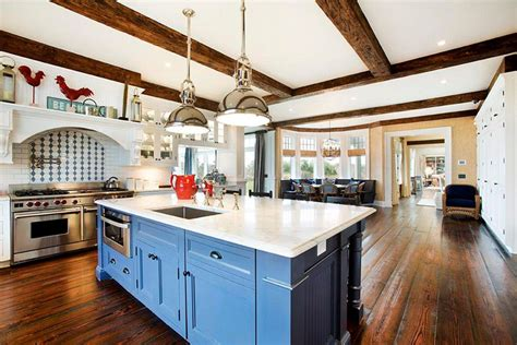 Country Kitchen Color Ideas - 25 blue and white kitchens design ideas designing idea