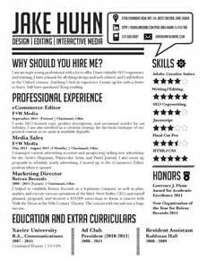 Graphic Design Student Resume Exles by Resume Jake Huhn