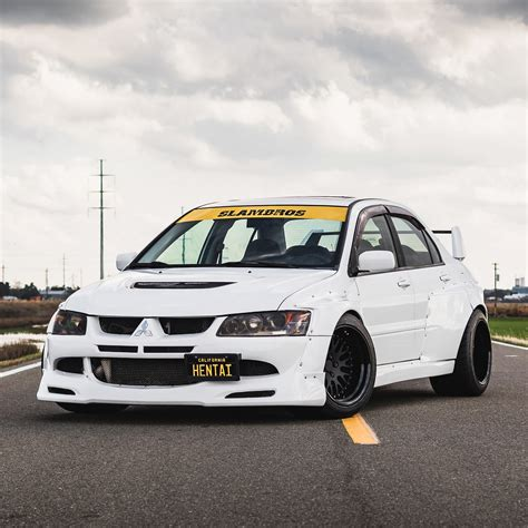 mitsubishi evo mitsubishi evolution widebody kit by clinched fits evo7