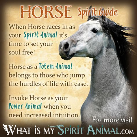 spirit animal horse meaning symbolism totem power guides native meanings american animals symbols mammal whatismyspiritanimal totems quotes represents guide whats