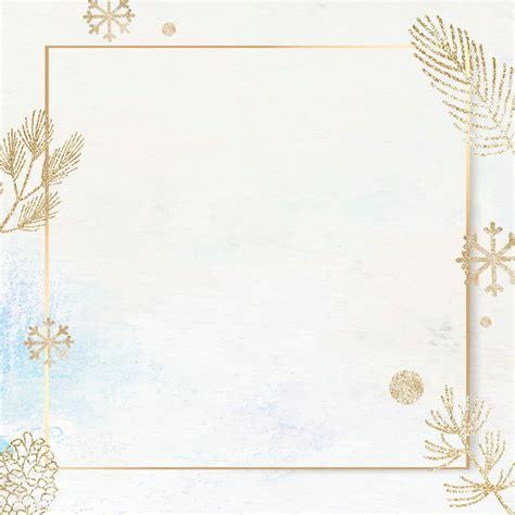 Download premium vector of Shimmery botanical gold frame