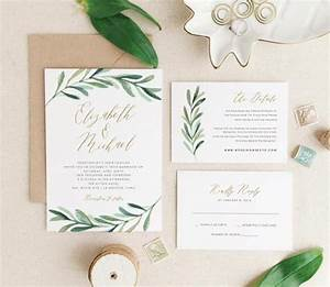 25 best ideas about invitation templates on pinterest With free printable wedding invitations greenery