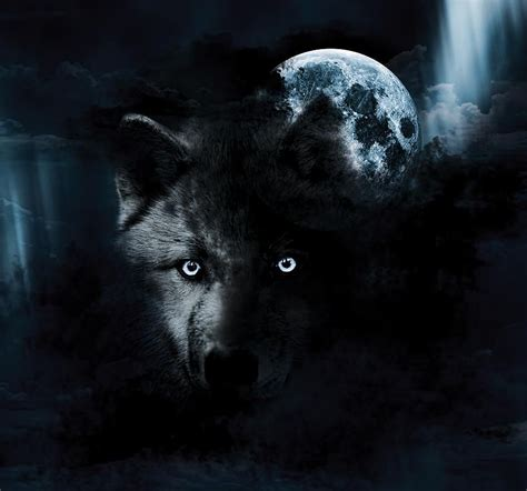 Alpha Wolf Blood Moon Wolf Wallpaper by Black Wolf Spirit Of The Wolf