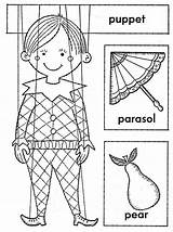 Coloring Puppet Boy Coloringsheet sketch template