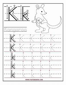 printable letter k tracing worksheets for preschool With learning write letters preschool