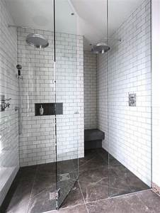white subway tile shower houzz With designing subway tile shower installation