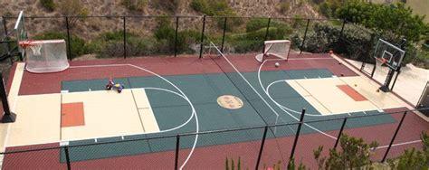 backyard sport court enclosed full size basketball