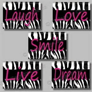 wall decor for teens room pink and black crafts canvas 39 pinterest teen rooms zebras