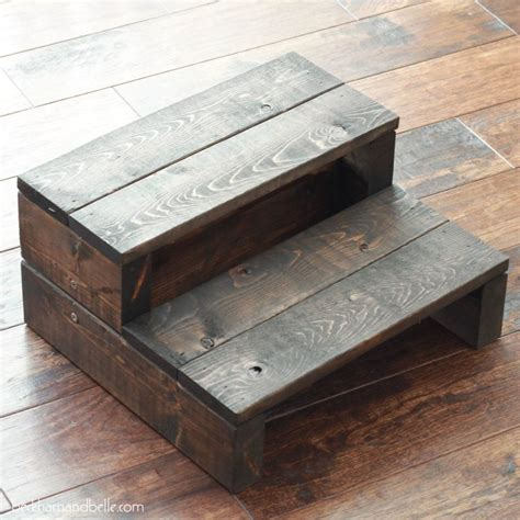 super simple kids diy  wood step stool wooden diy