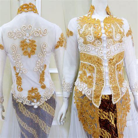 jual sepasang kebaya pengantin bahan tile kebaya pengantin