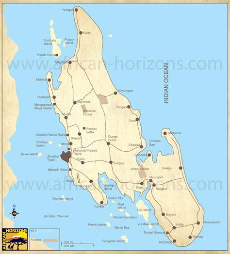 map  zanzibar east african holiday safari travel tours