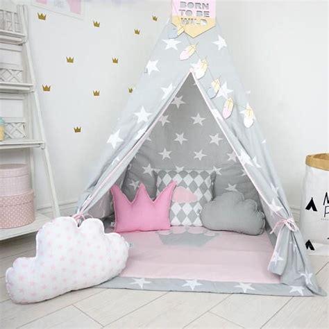 Tipi Zelt Mit Bodenmatte Kinderzimmer by Spielzelt Tipi Tipi Rosa Tipi Zelt Tipi Enfant