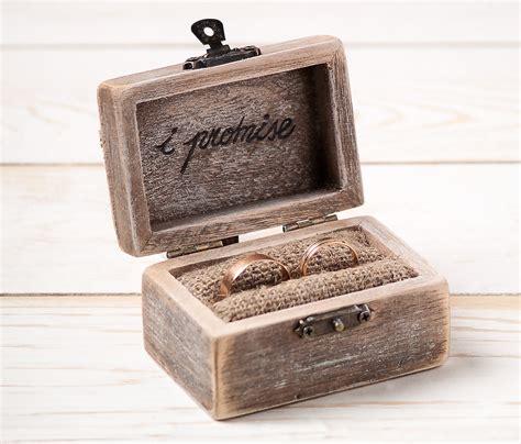 wedding ring with box ring bearer box wedding ring box rustic wedding ring holder