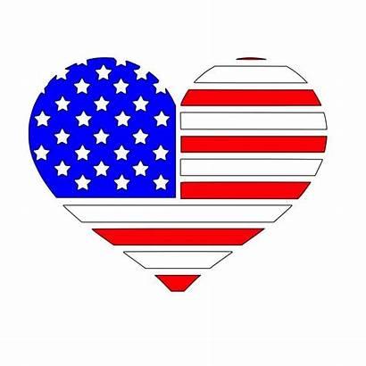 Flag Heart American Silhouette Svg Clipart Clip