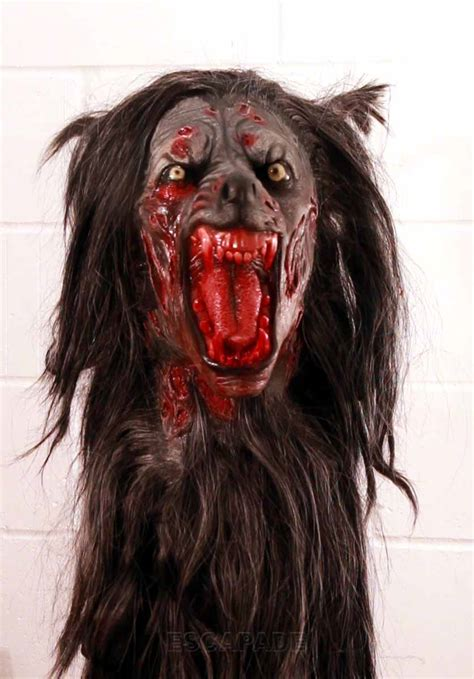 black wolf mask halloween werewolf mask deluxe quality