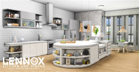 sims kitchen ideas my sims 4 updated lennox kitchen and dining set by