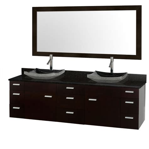 black bathroom vanity with vessel sink encore 78 quot double bathroom vanity set espresso with