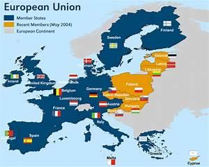 European Union Map - TravelQuaz.Com