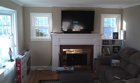mounting tv above fireplace wethersfield ct mount tv above fireplace home theater