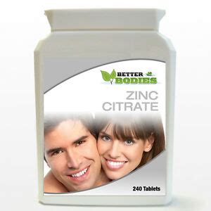 zinc citrate   day helps  acne fertility healing