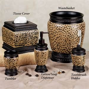dynasty cheetah bath accessories