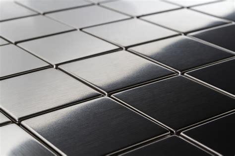 square metal xmosaic stainless steel tile