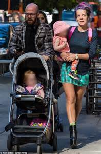 Lily Allen in New York with daughters Ethel, Marnie and ex ...