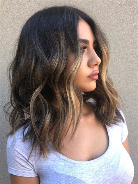medium length hair with waves and texture hairstyles