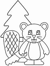 Beaver Coloring Pages Animal Animals Printable Coloringpages1001 Picgifs Advertisement Popular sketch template