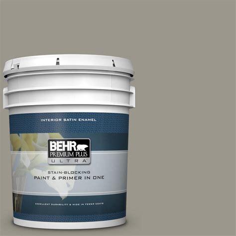 behr premium plus ultra 5 gal mq2 60 iron gate satin enamel interior paint and primer in one