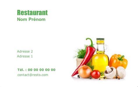 modele cuisine cagne carte de visite restaurant modèle gratuit à imprimer ingrédient