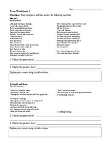 tone worksheet 1 6th 9th grade worksheet lesson planet