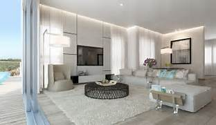 Retractable Glass Doors Living Room White Sofa And Furry Rug OLPOS Cozy Swedish Apartment With White Wood Floor Living Room Cross Rug House With White Interiors Black White Interior Design Living Room OLPOS Design