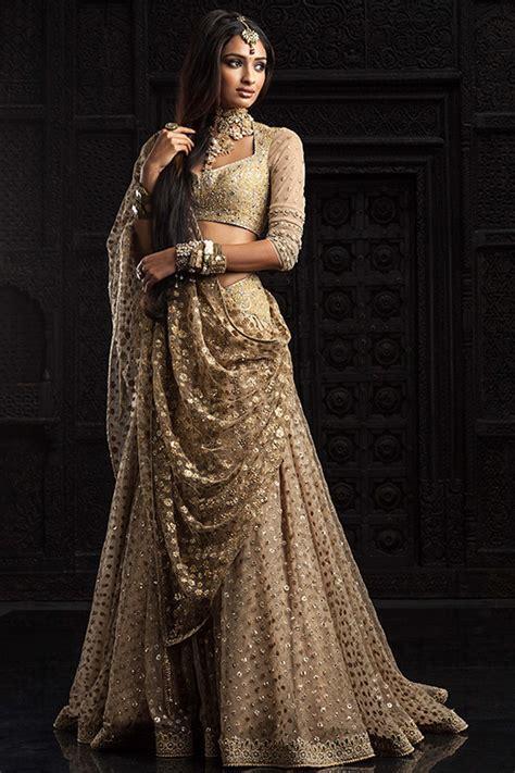 gold indian wedding dress indian weddings trousseau